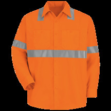Hi-Visibility Long Sleeve Work Shirt - Type R, Class 2
