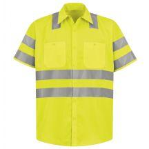 Hi-Visibility Short Sleeve Work Shirt - Type R, Class 3