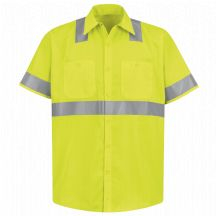 Hi-Visibility Short Sleeve Work Shirt - Type R, Class 2