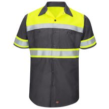 Hi-Visibility Short Sleeve Colorblock Ripstop Work Shirt - Type O, Class 1